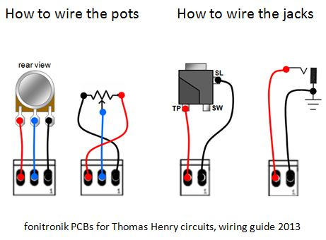 muff wiggler view topic pcb offer thomas henry s contr lfo the chart below shows how to wire the potentiometers and the jacks if you don t use the front panel components pcb